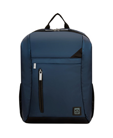 "Adler Laptop Backpack 15.6"" (Navy Blue with Black Trim)"
