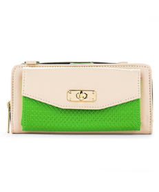Venice Clutch (Cream/Lime)