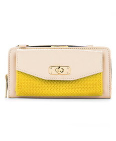 Venice Clutch (Cream/Yellow)