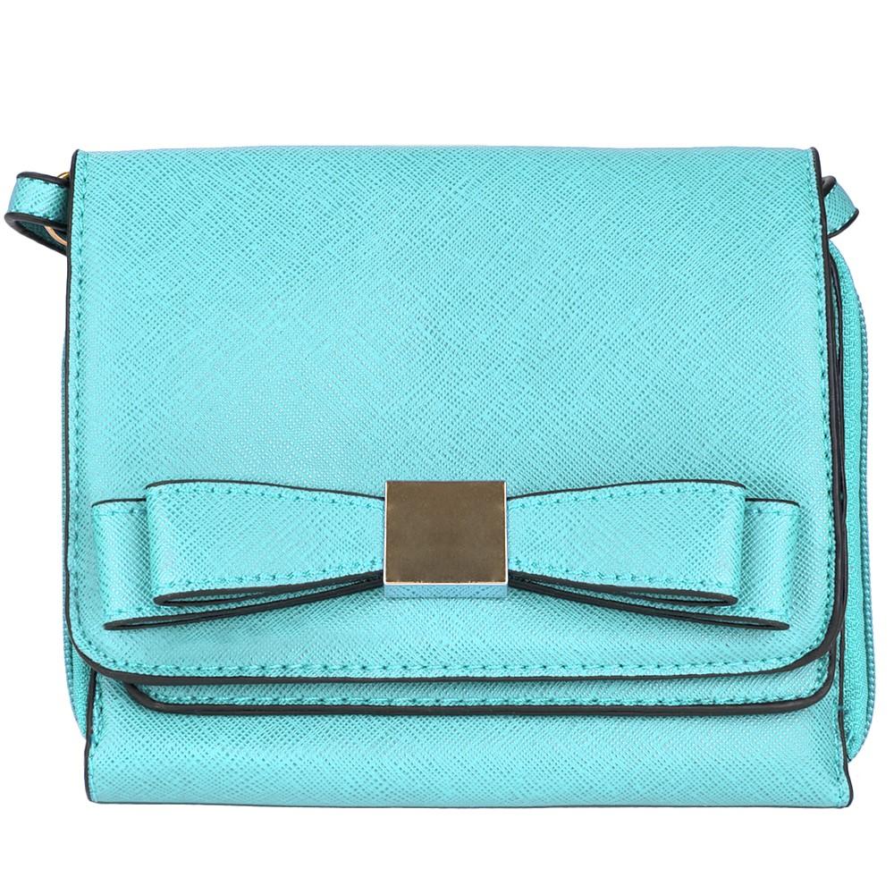 (Aqua) Mini Carson Crossbody Bag