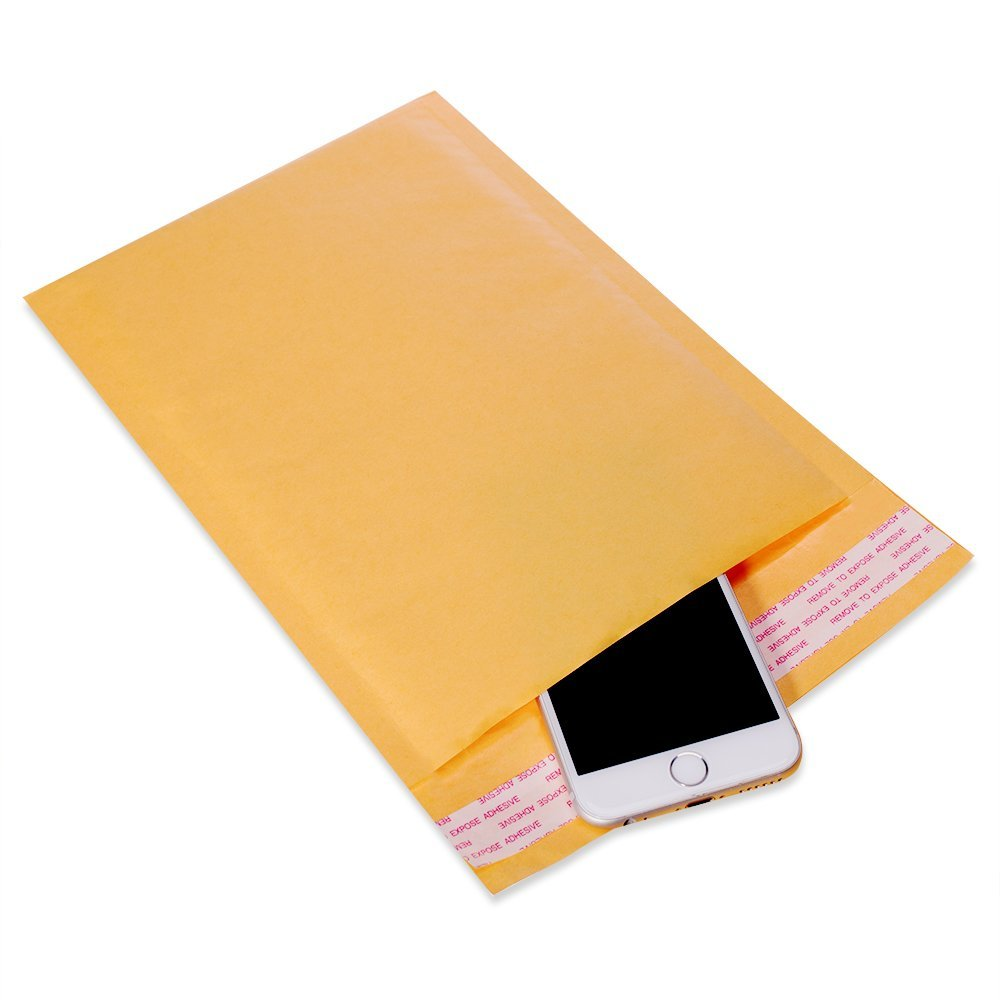 (100 PC) 7.25 X 12 Premium Kraft Bubble Cushioned Mailer