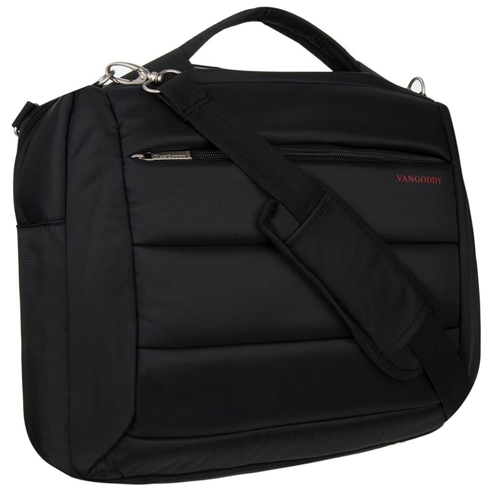 """Bonni Two in One Laptop Shoulder Bag Backpack 15.6"""" (Black)"""