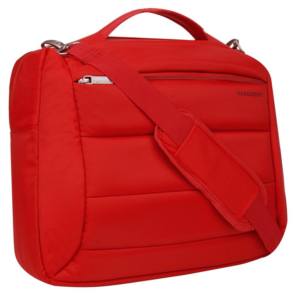 "Bonni Two in One Laptop Shoulder Bag Backpack 15.6"" (Red)"