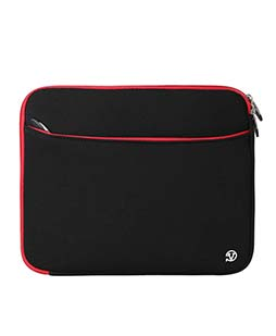 (Black/Red) Neoprene 12 Laptop Carrying Sleeve