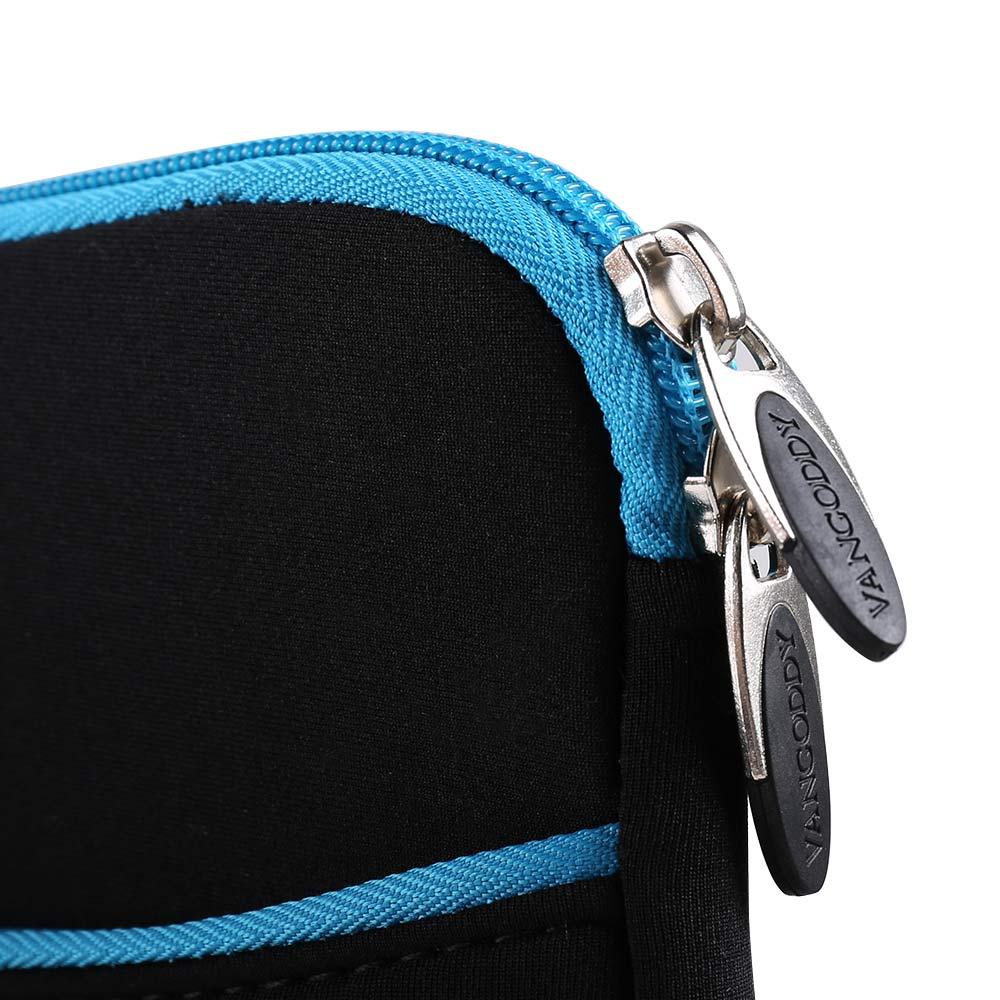 (Black/Blue) Neoprene 12 Laptop Carrying Sleeve