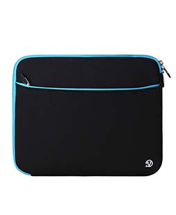 (Black/Blue) Neoprene 12 Laptop Carrying Sleeve