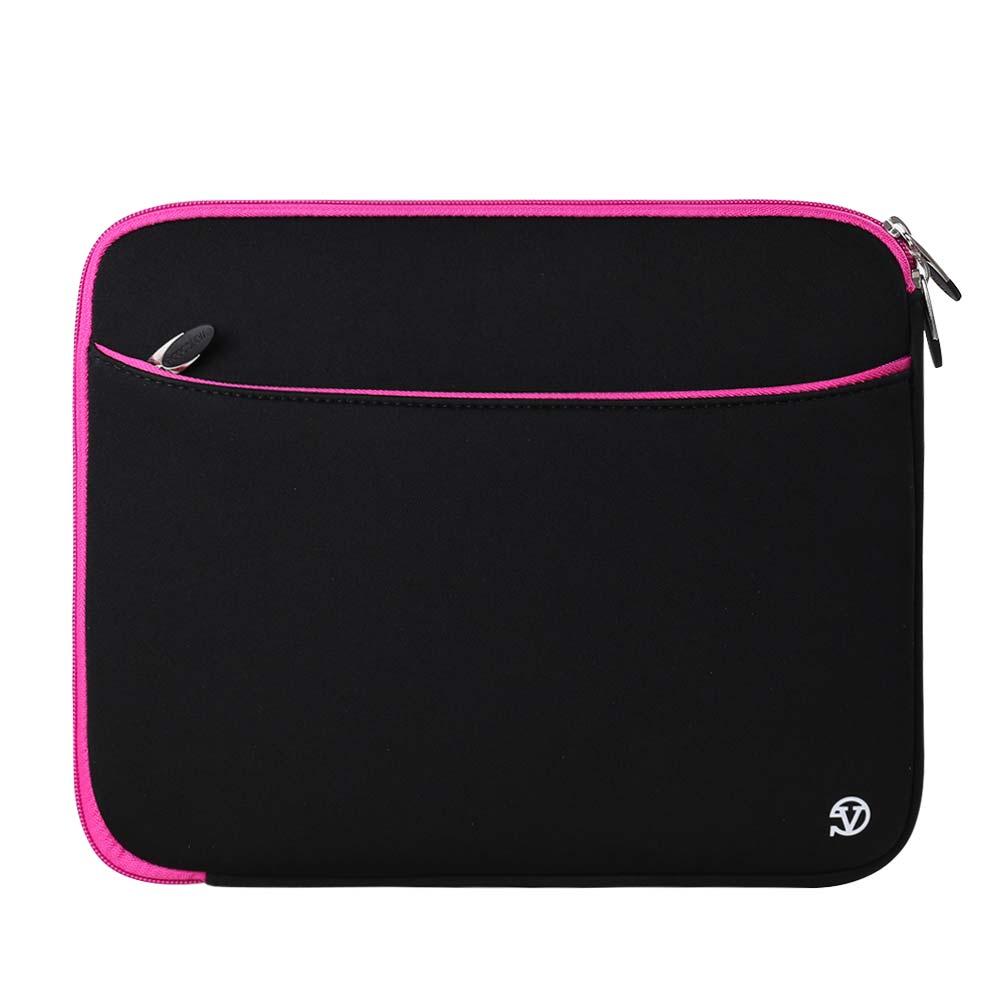 (Black/Pink) Neoprene 12 Laptop Carrying Sleeve