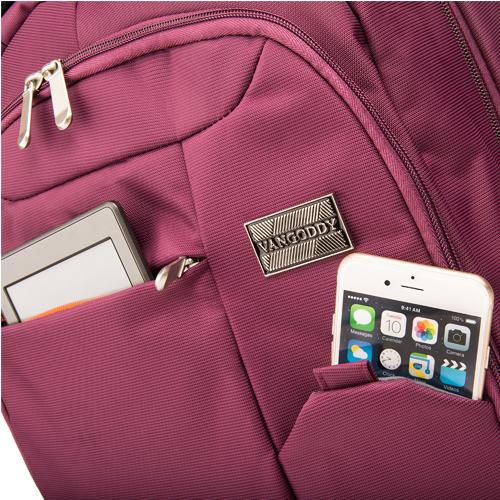 """Germini Laptop Backpack 15"""" (Purple)"""