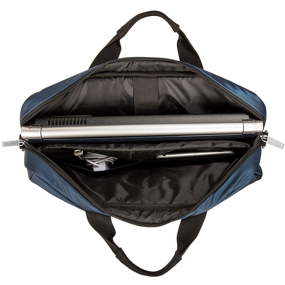 "Adler Laptop Shoulder Bag 15.6"" (Navy Blue/Black Trim)"