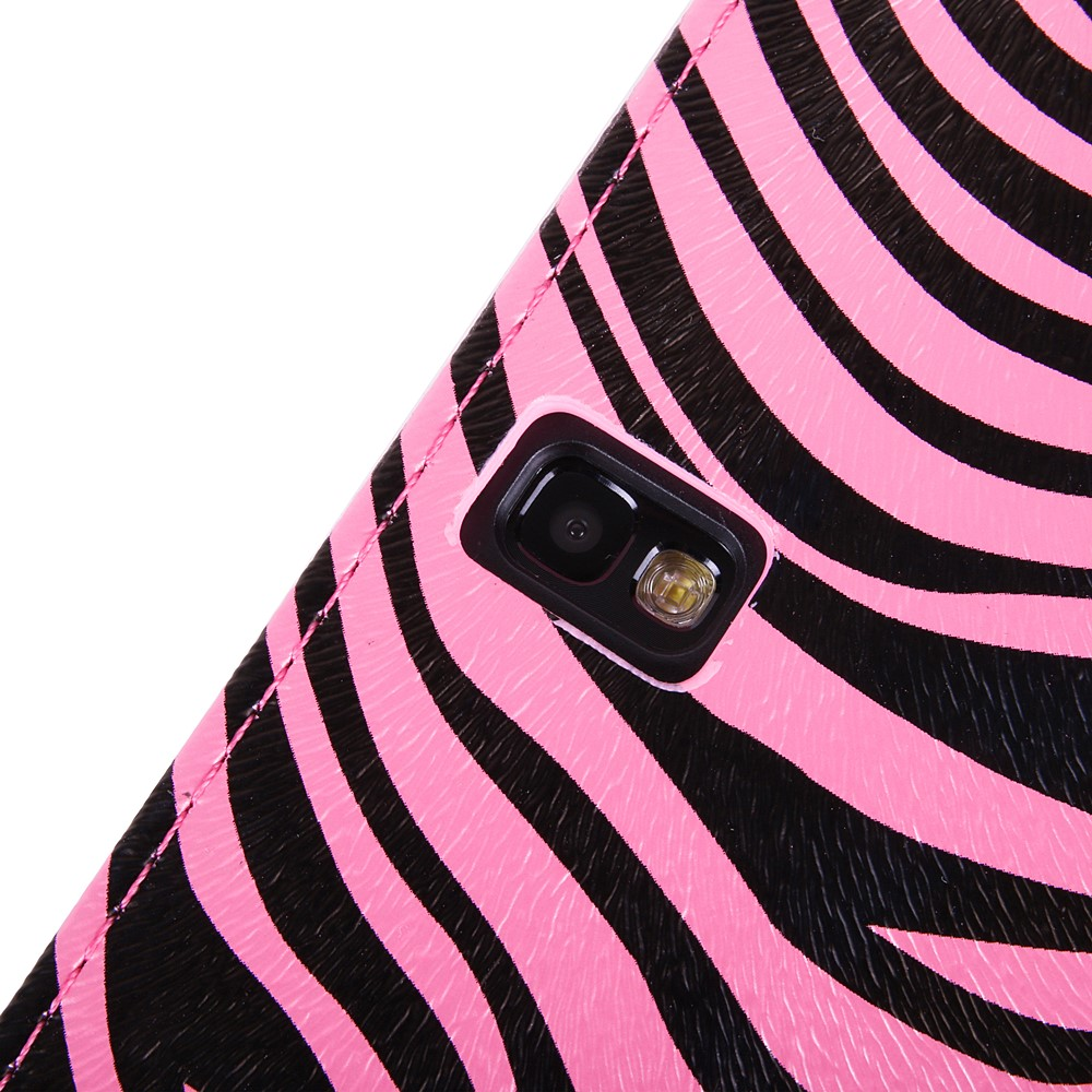 Mary Self Stand Case for Samsung® Galaxy Tab Pro 10.1 (Pink/Black Zebra)