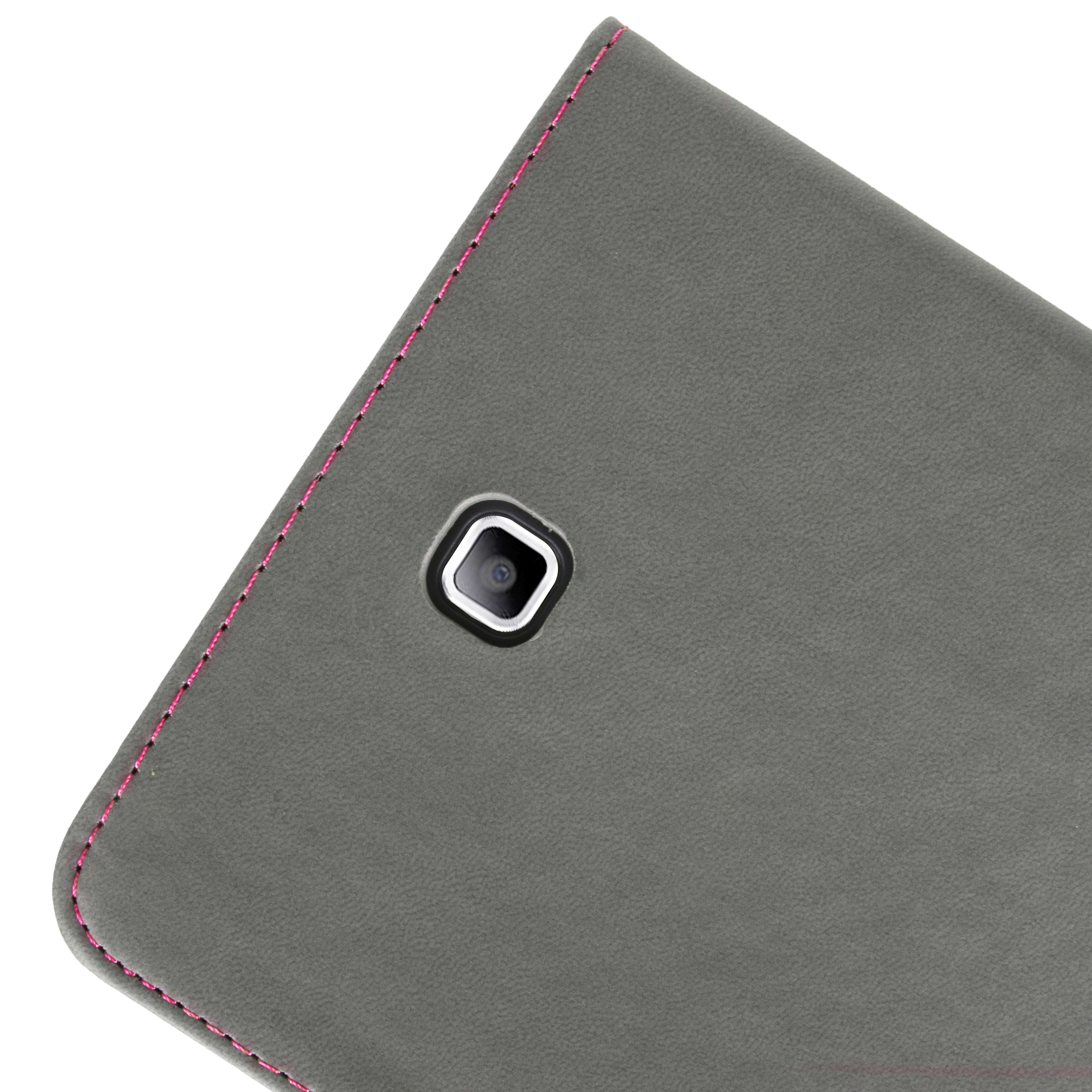 Mary Portfolio Case for Samsung® Galaxy Tab 4 8.0 with Sleep Mode (Pink/Gray)