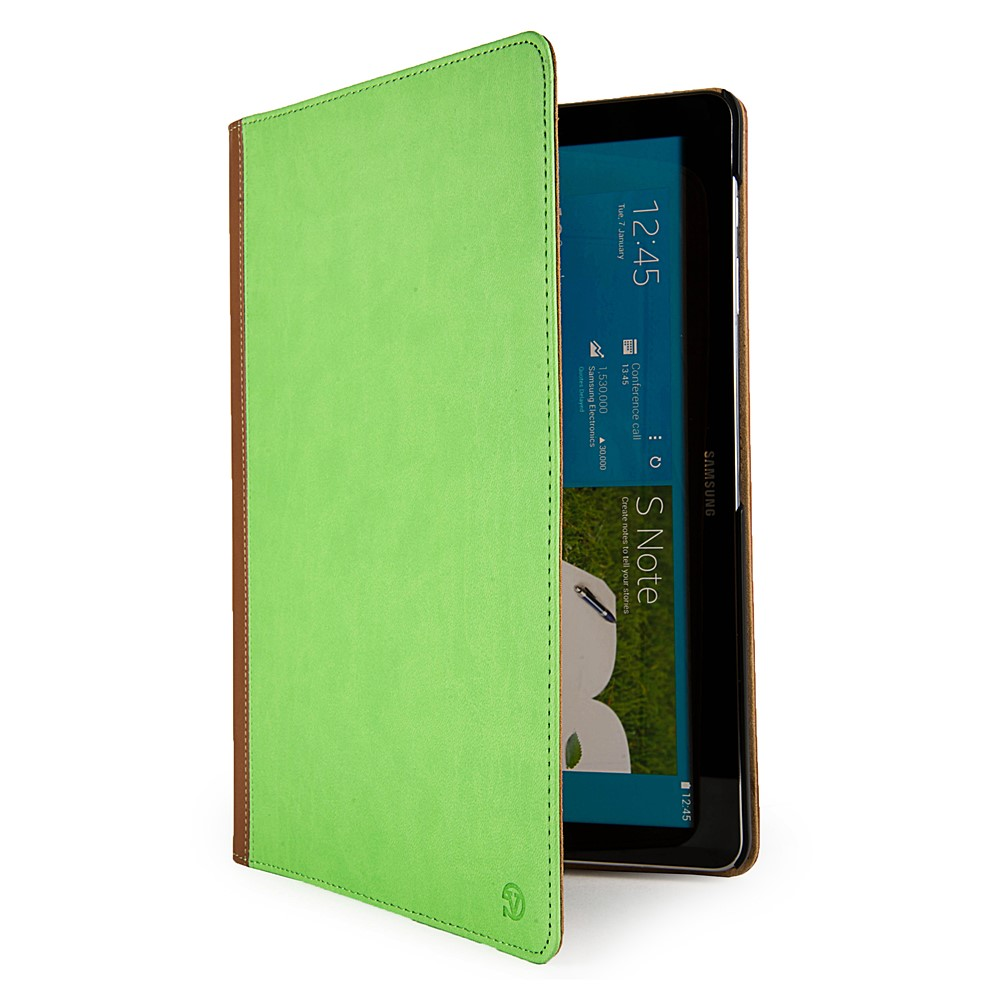 Mary Self Stand Case for Samsung® Galaxy Note Pro 12.2 (Green/Brown)