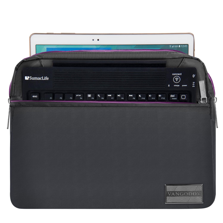 """NineO Messenger Bag 10"""" (Gray/Purple)"""