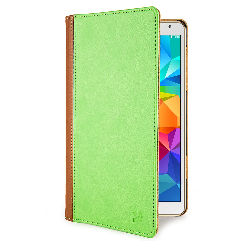 Mary Portfolio Case for Samsung® Galaxy Tab 4 8.0 with Sleep Mode (Green/Brown)