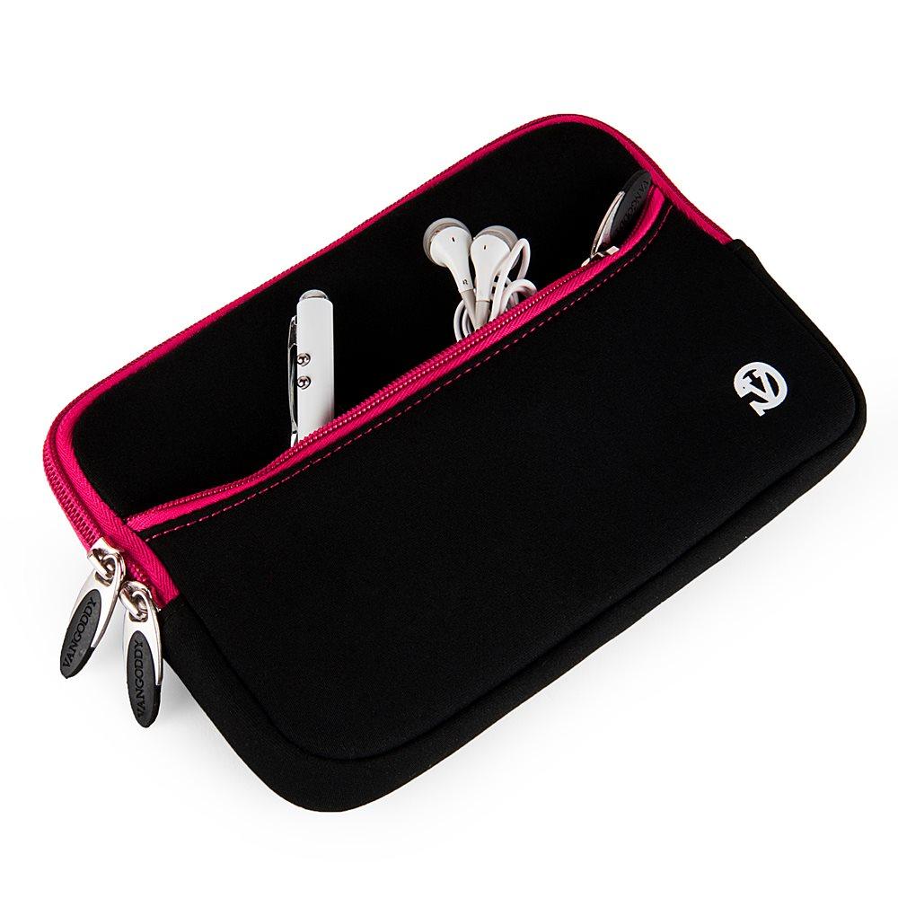 """Tablet Neoprene Sleeve 7"""" (Black/Pink Trim)"""