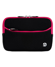 "Tablet Neoprene Sleeve 7"" (Black/Pink Trim)"