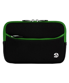 "Tablet Neoprene Sleeve 7"" (Black/Green Trim)"