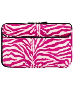 "10"" Neoprene Sleeve (Pink Zebra)"