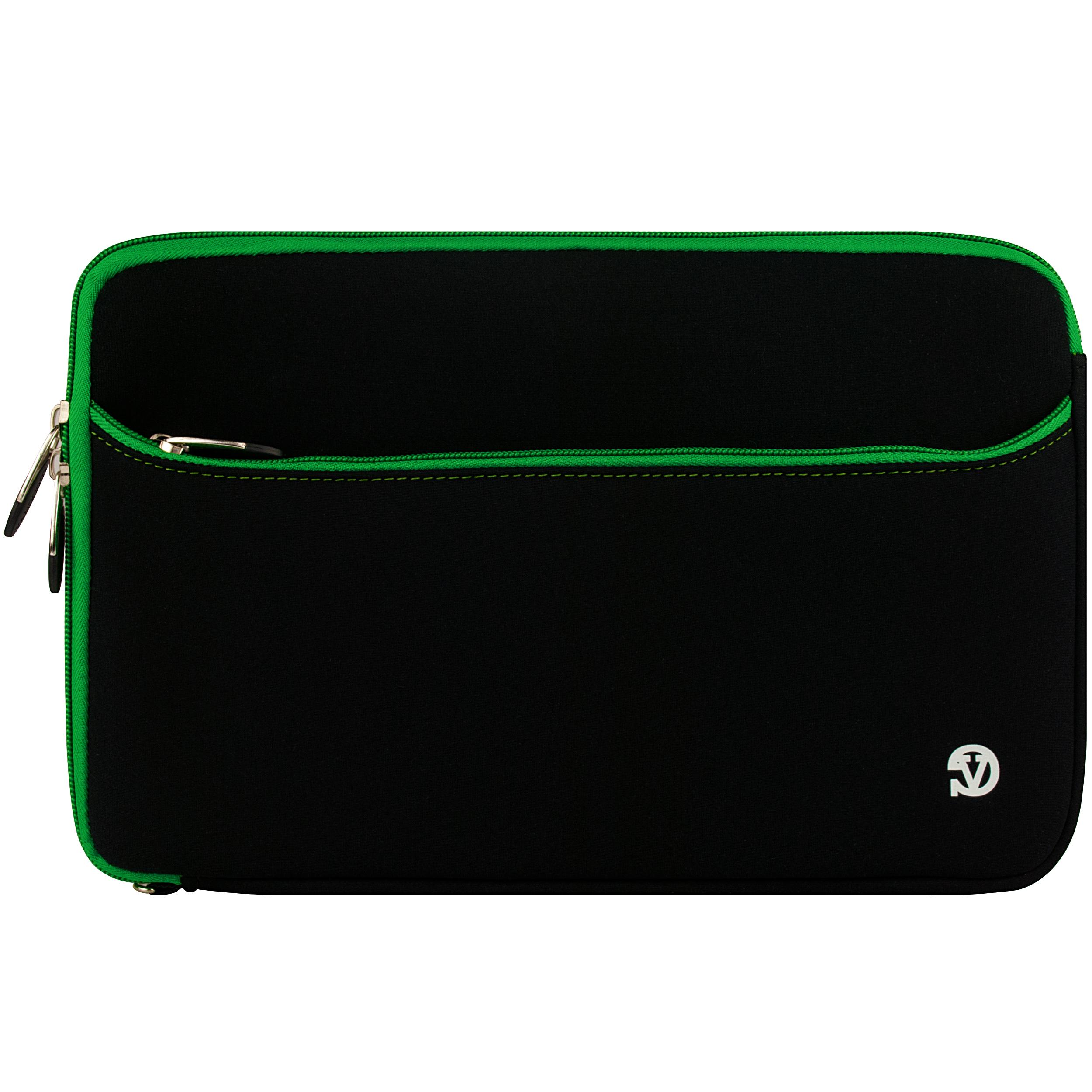 Neoprene 10.1 Sleeve (Black/Green Trim)