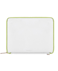 "Irista 10"" Tablet Sleeve (White/Lawn Green)"