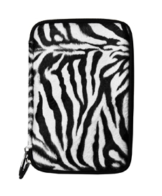 Zebra Faux Fur Hard Cube