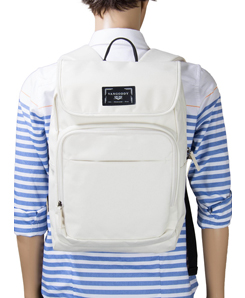 Vangoddy Luca Flapper Travel Business Backpack Fits up to 15.6 Inch Laptop, White