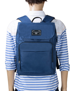 Vangoddy Luca Flapper Travel Business Backpack Fits up to 15.6 Inch Laptop, Blue