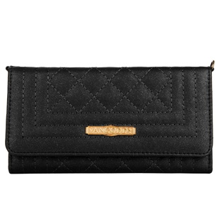 Puru Lady Wallet Cellphone Case (Black)