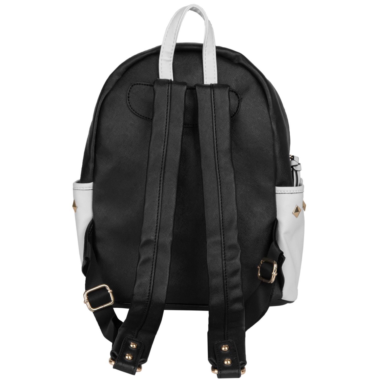 Mini Rivets PU Leather Backpack (Black)