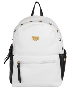 Mini Rivets PU Leather Backpack (White)