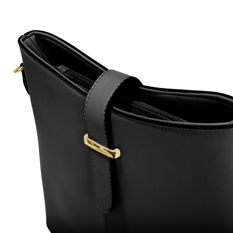 Serena Buckle Bag (Black)