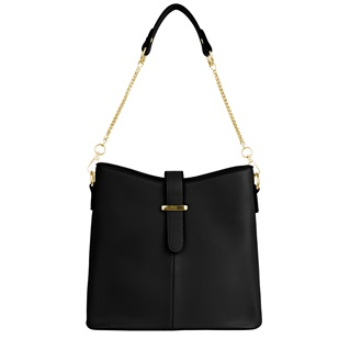 Serena Buckle Bag (Black)