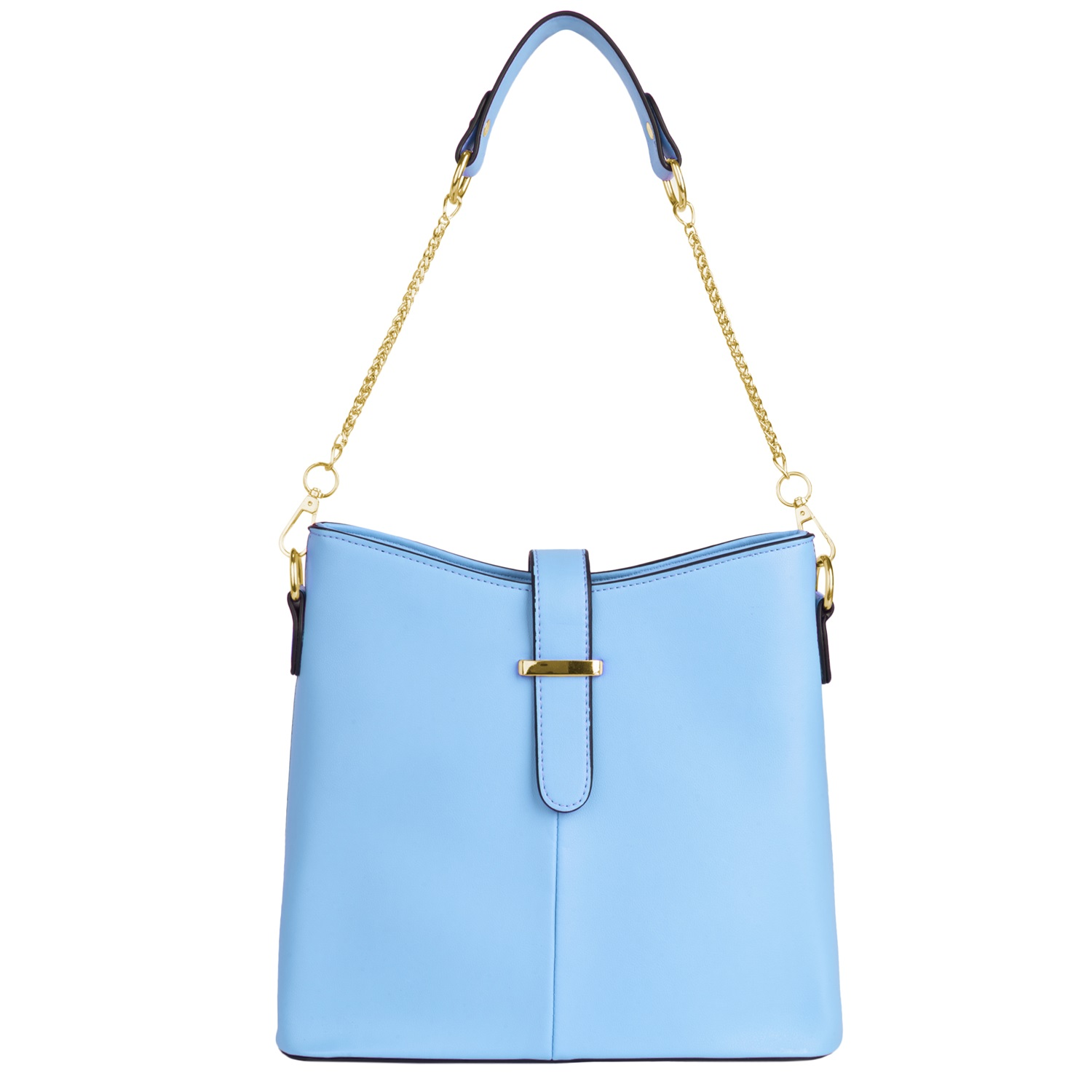 Serena Buckle Bag (Blue)