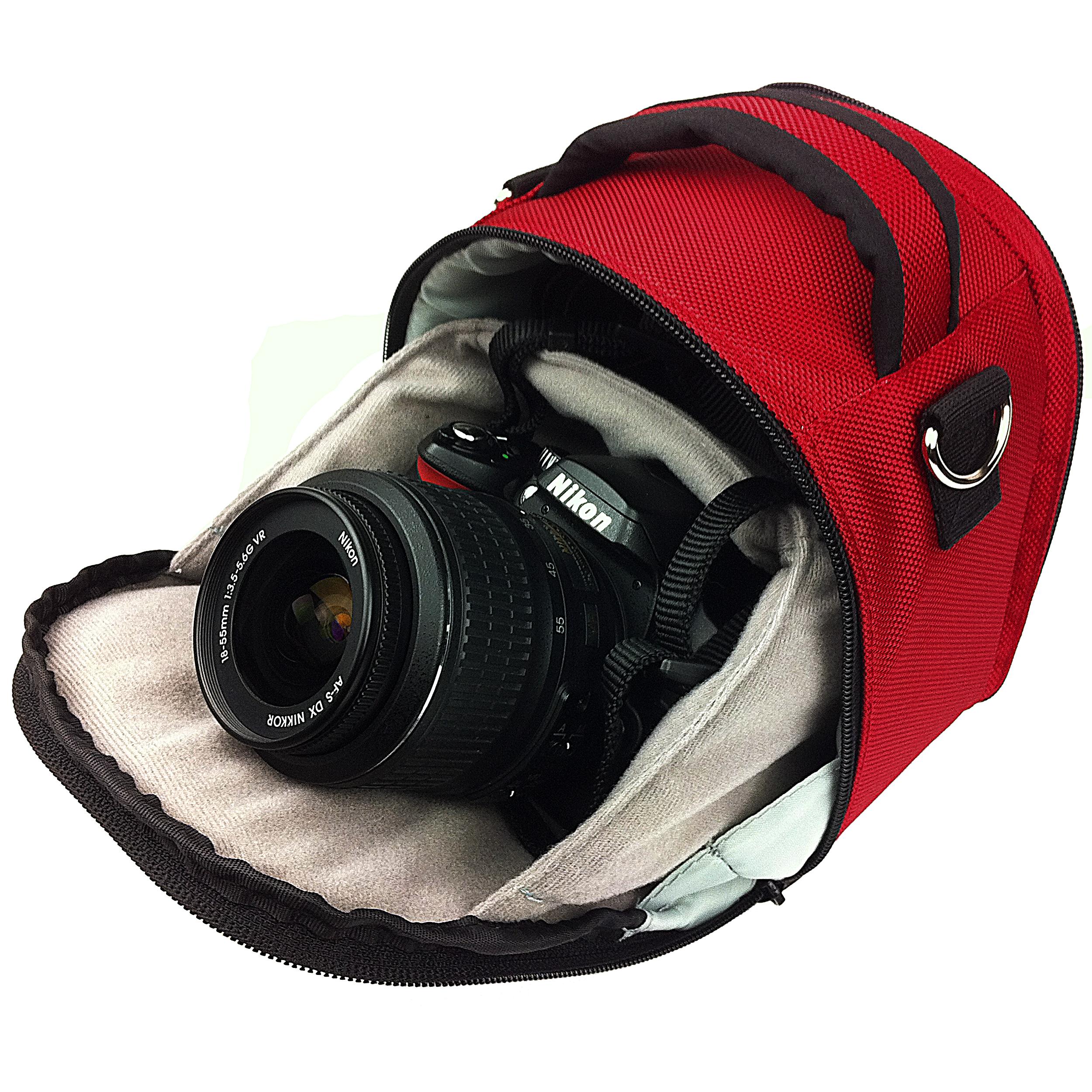 Laurel Case for DSLR Cameras (Red)