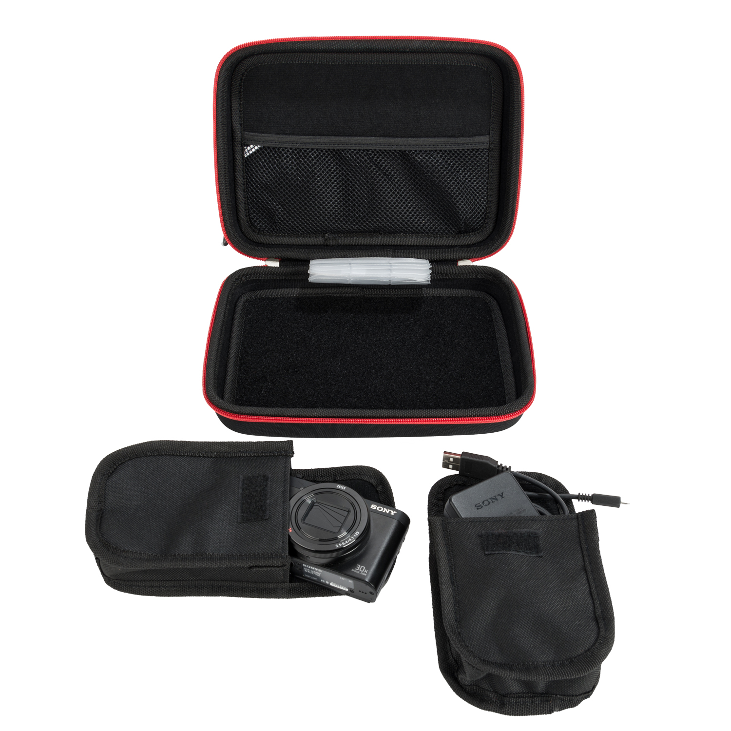 Black with Red Trim Harlin Case
