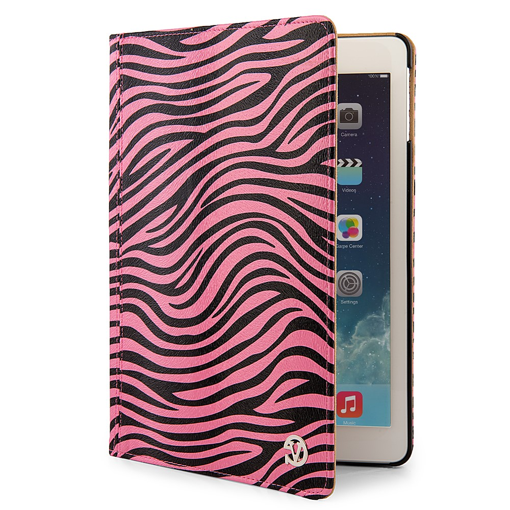 Mary Case for iPad Air with Sleep Mode (Pink/Black Zebra)