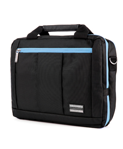 El Prado Laptop Messenger/ Backpack (Black/Aqua) 13-14