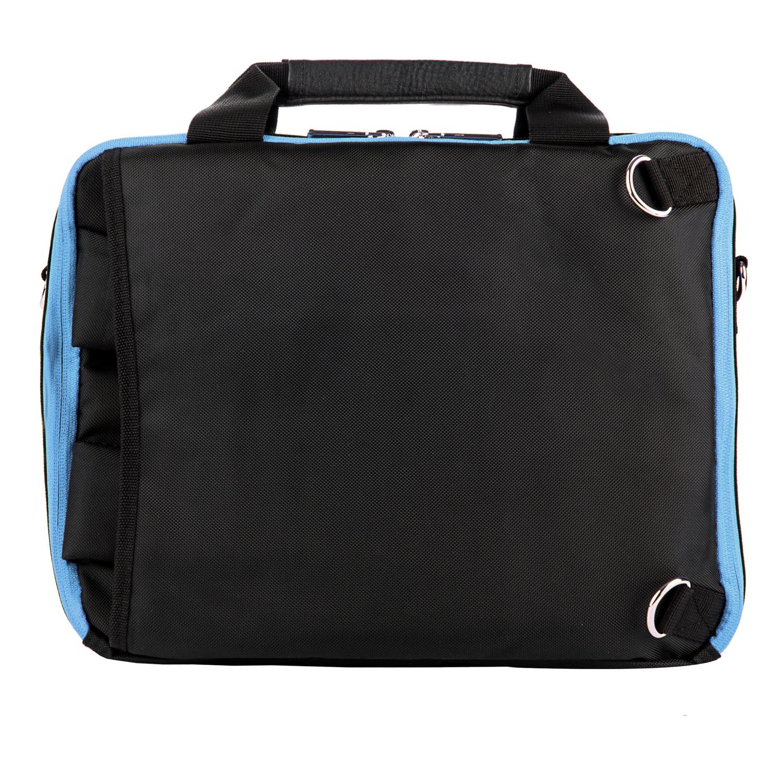 El Prado Laptop Messenger/ Backpack (Black/Aqua)10-12