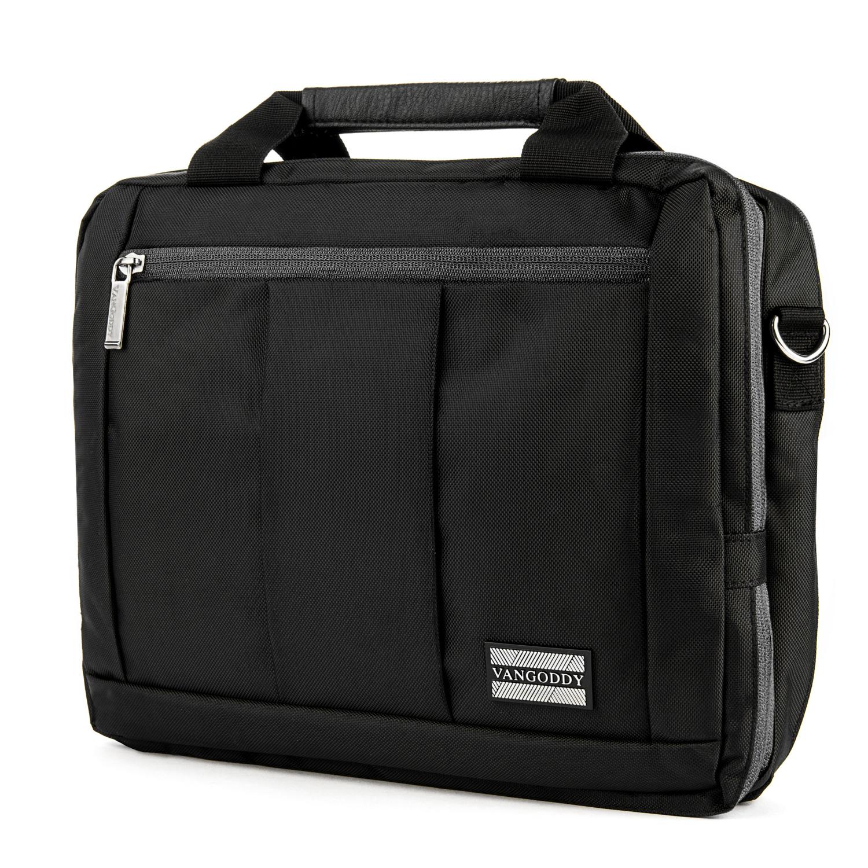 El Prado Laptop Messenger/ Backpack (Black) 10-12