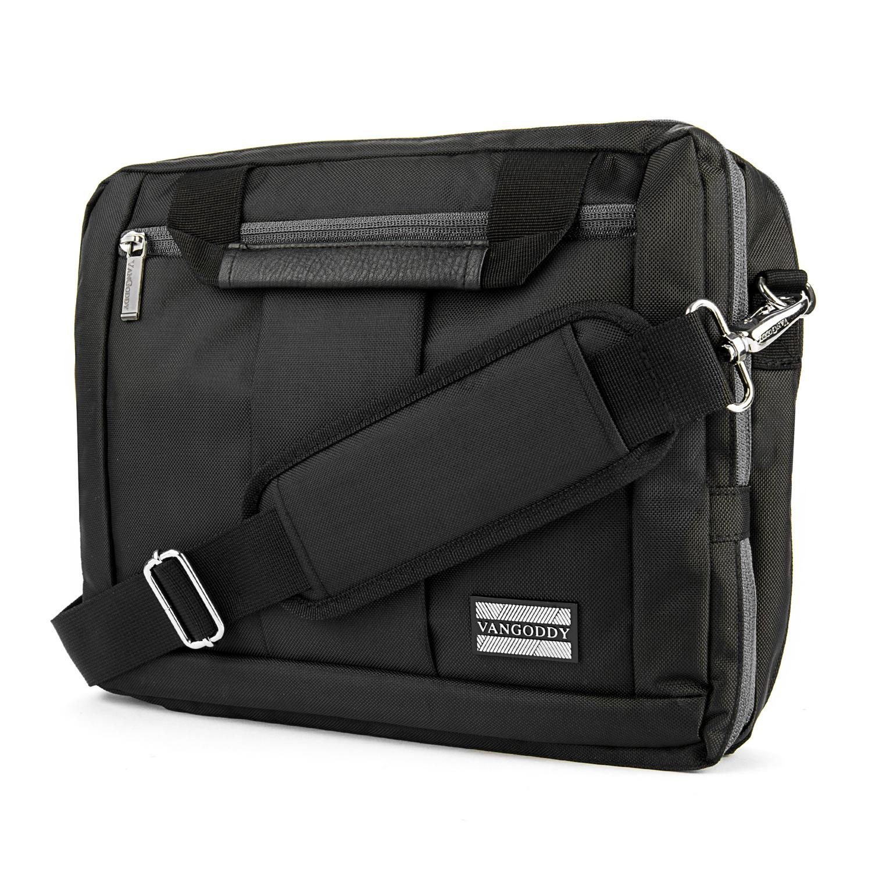 "El Prado Laptop Messenger/ Backpack (Black) 10-12"""