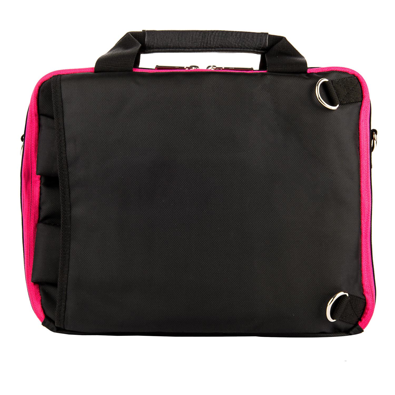 El Prado Laptop Messenger/ Backpack (Black/Magenta) 10-12