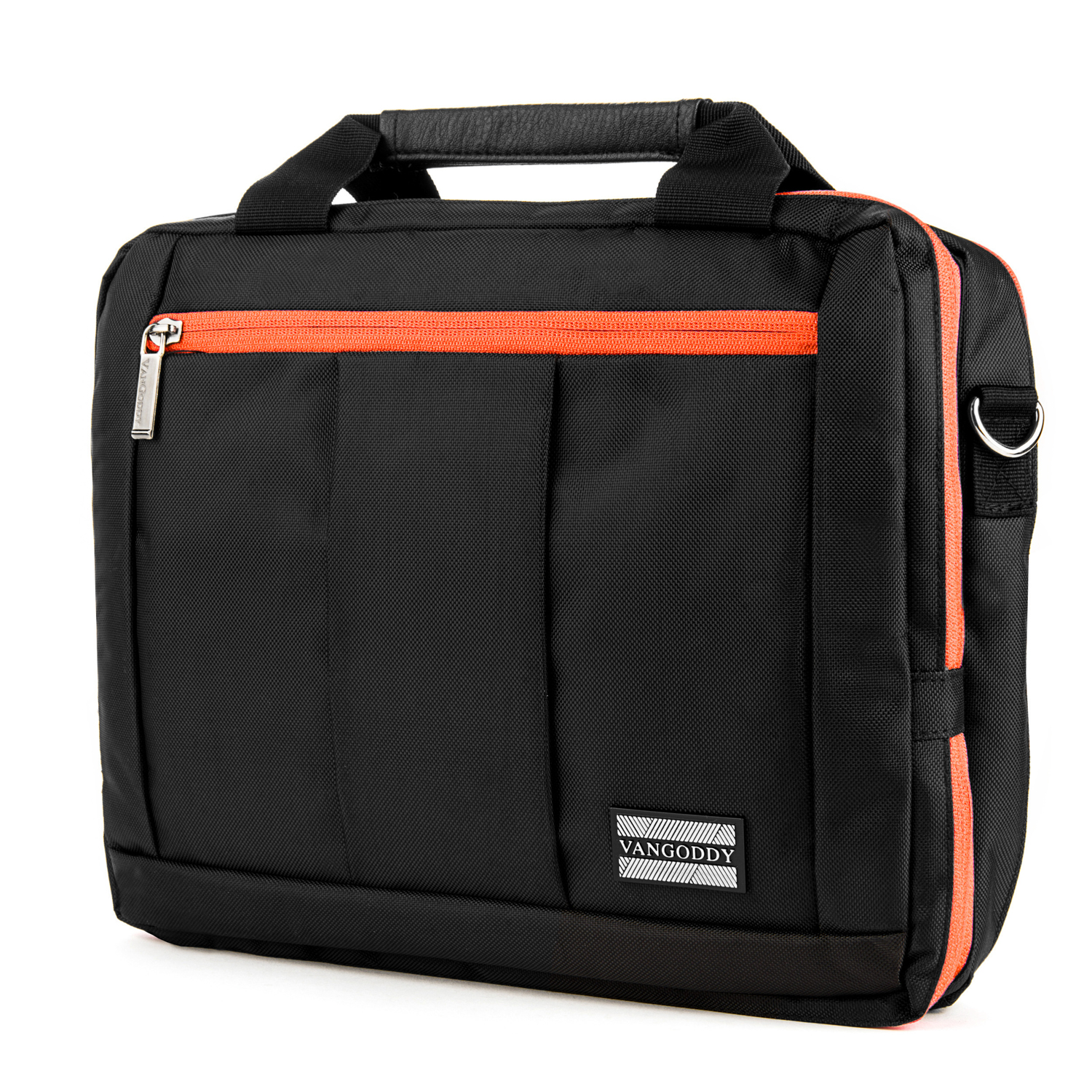 El Prado Laptop Messenger/ Backpack (Black/Orange) 10-12