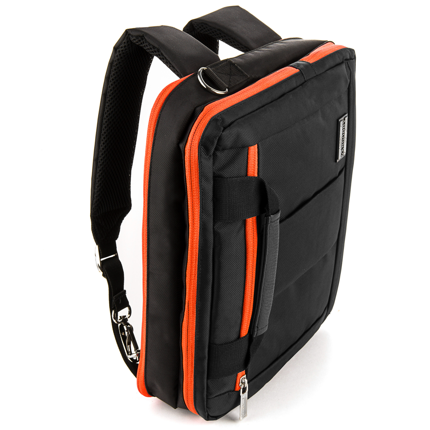 El Prado Laptop Messenger/ Backpack (Black/Orange) 10-12""