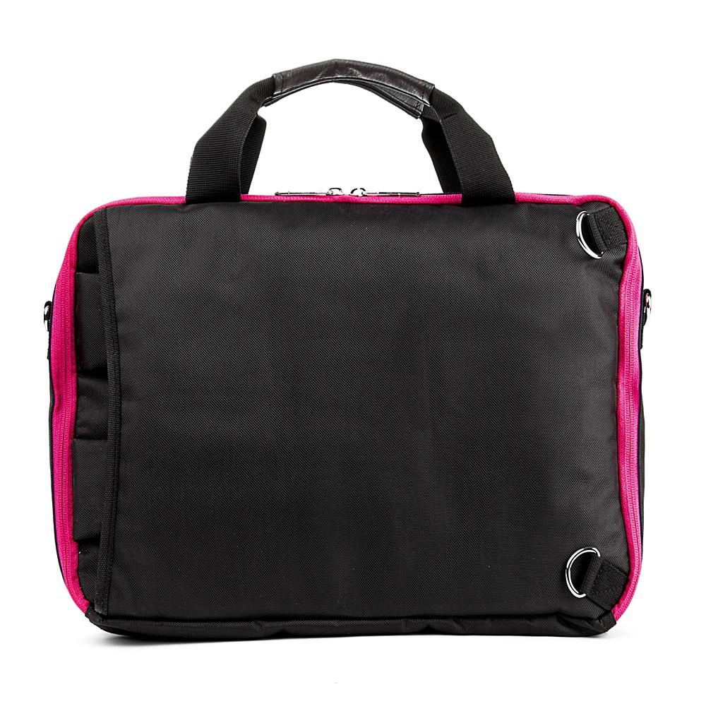 El Prado Laptop Messenger/ Backpack (Black/Magenta) 13-14