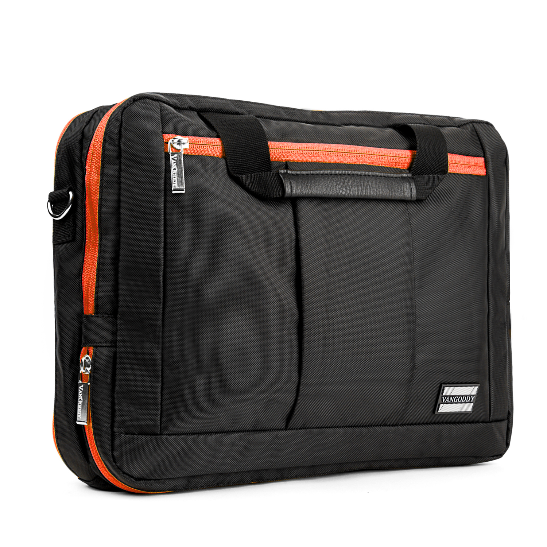 El Prado Laptop Messenger/ Backpack (Black/Orange) 13-14