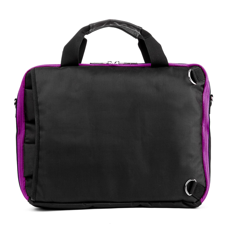 El Prado Laptop Messenger/ Backpack (Black/Purple) 13-14