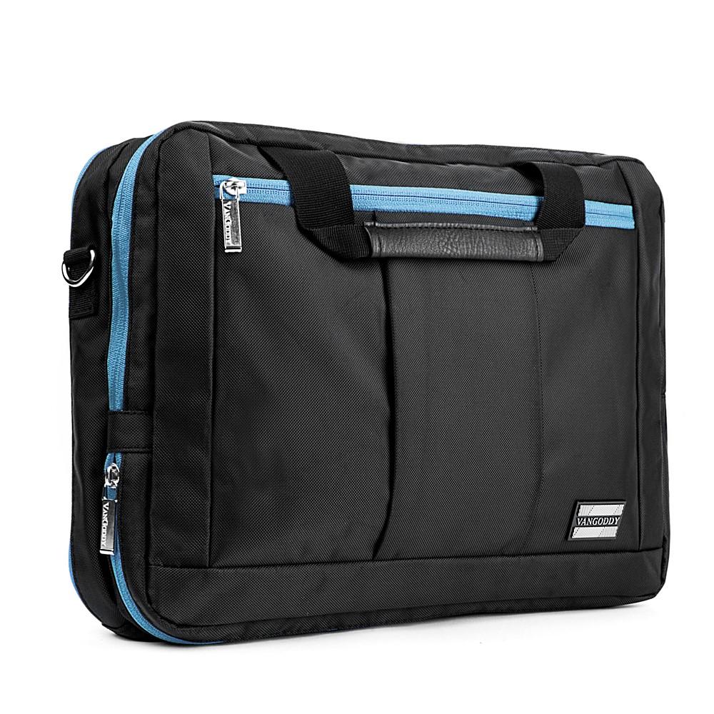 El Prado Laptop Messenger/ Backpack (Black/Aqua) 15-17