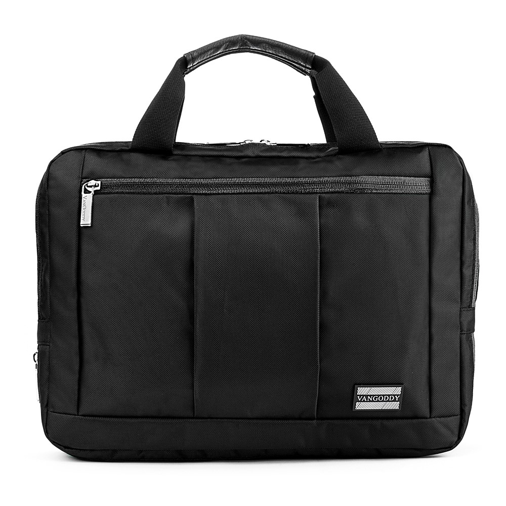 "El Prado Laptop Messenger/ Backpack (Black) 15-17"""