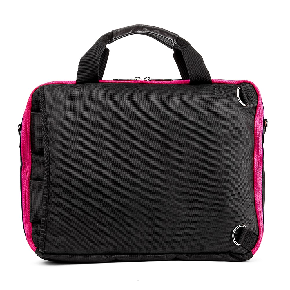 El Prado Laptop Messenger/ Backpack (Black/Magenta) 15-17