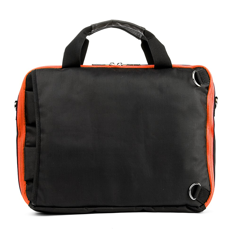 El Prado Laptop Messenger/ Backpack (Black/Orange) 15-17